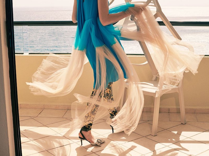 Delpozo Tulle-Panelled Silk Dress