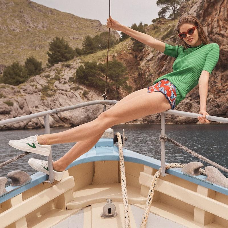 Diane von Furstenberg Cheeky Ruffle Highwaist Bottom