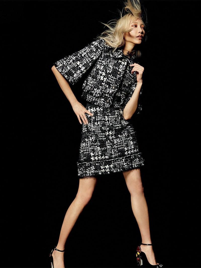 Dolce & Gabbana A-Line Tweed Short Skirt