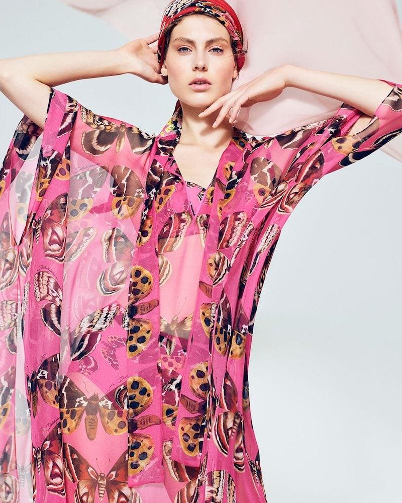 Dolce & Gabbana Butterfly-Print Balconette Bikini Top