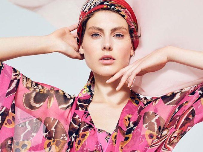 Dolce & Gabbana Butterfly-Print Silk-Chiffon Kaftan