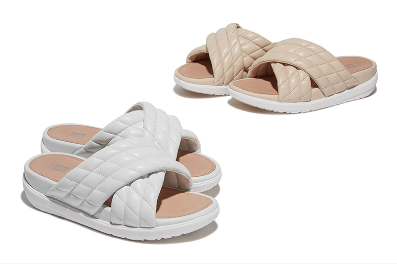 FITFLOP LIMITED EDITION Quilted Leather Slide Sandals