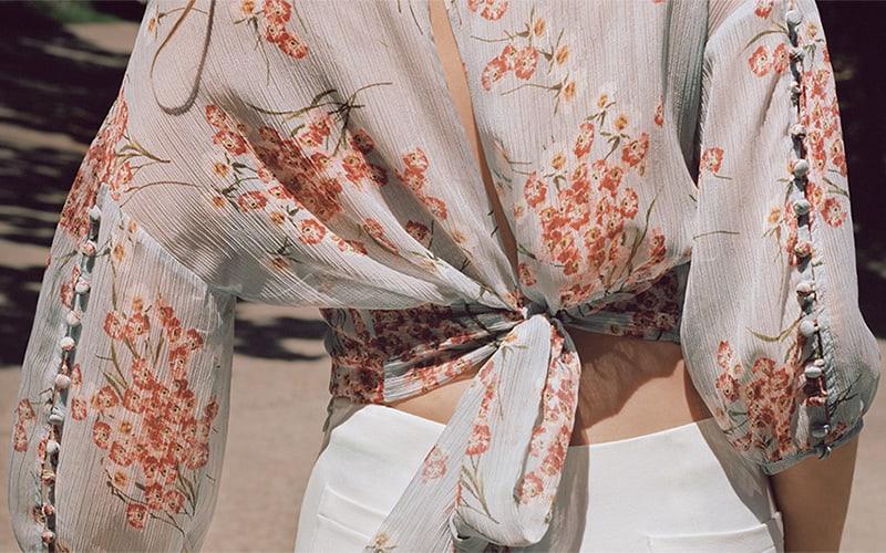 FiveSeventyFive Floral Crinkled Georgette Blouse