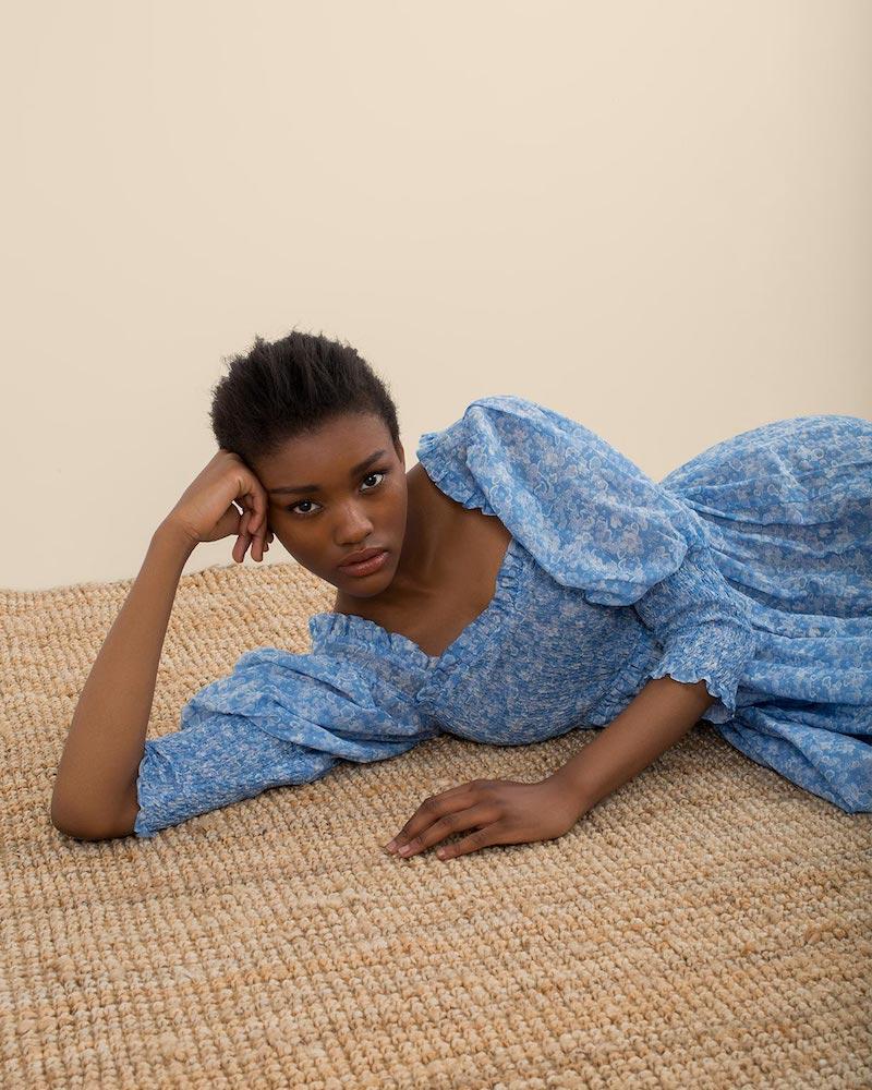 Ganni Floral-Print Cotton and Silk-Blend Dress