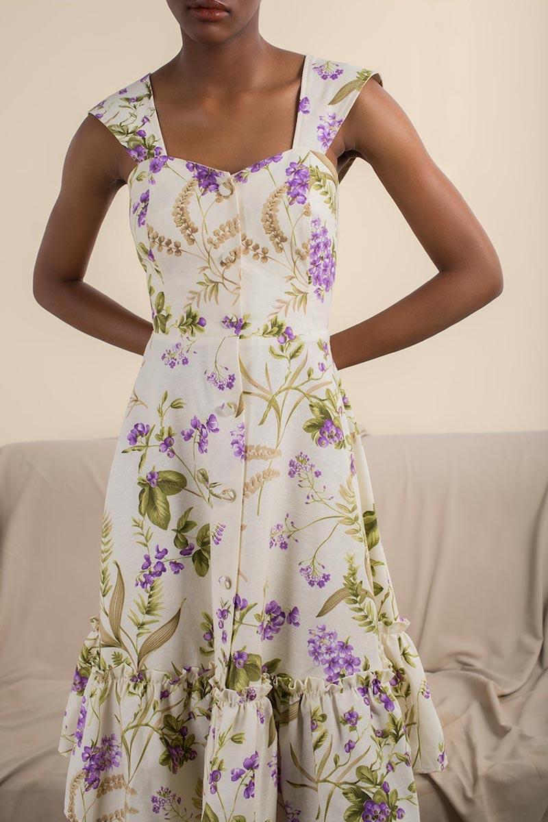 Gioia Bini Camilla Ruffle-Trimmed Dress