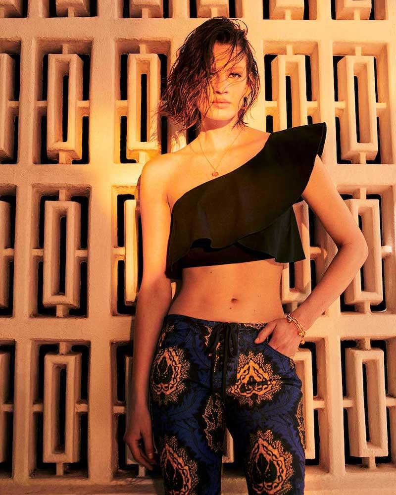 Isabel Marant Hayo One-Shoulder Ruffle Crop-Top