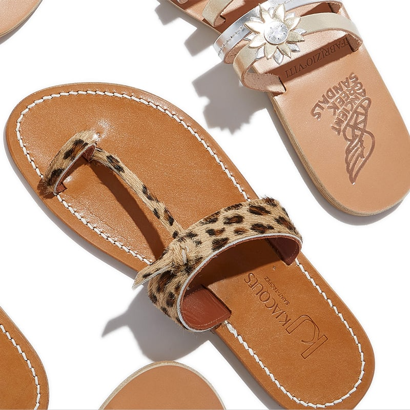 K JACQUES Pampa Calf Hair Sandals