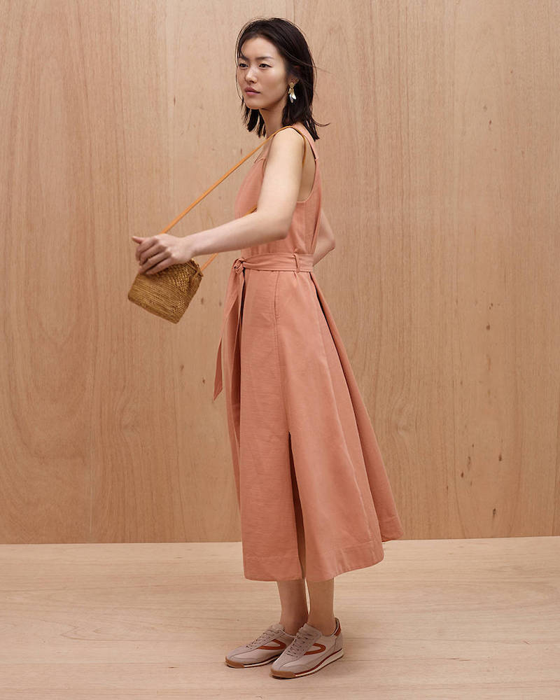 Madewell Apron Tie-Waist Dress