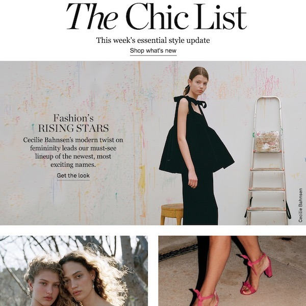 NET-A-PORTER the Chic List June 24, 2018