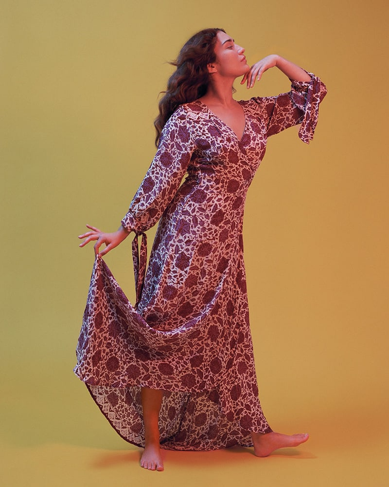 Natalie Martin Danika Silk Cover-Up Maxi Dress