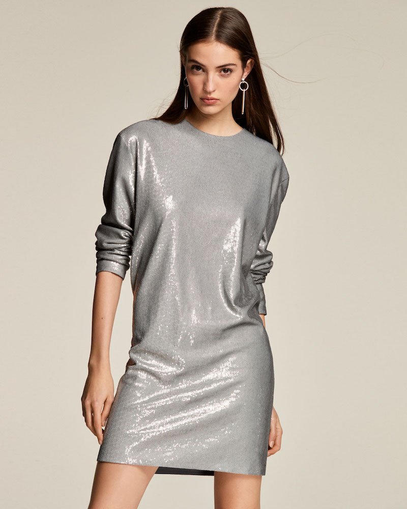 Ralph Lauren Collection Sondra Long-Sleeve Beaded Shift Dress