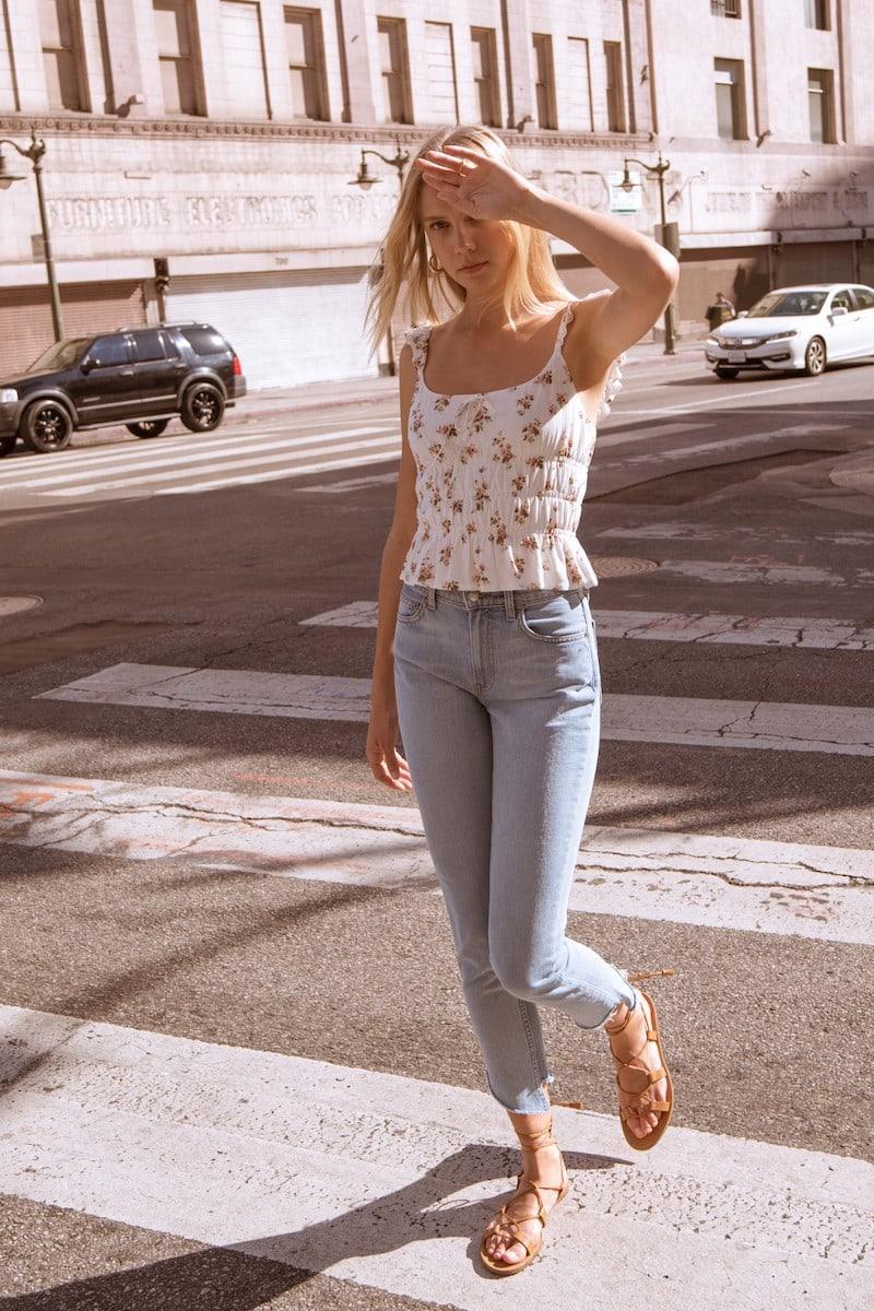 Reformation Julia Crop High Waist Cigarette Jeans