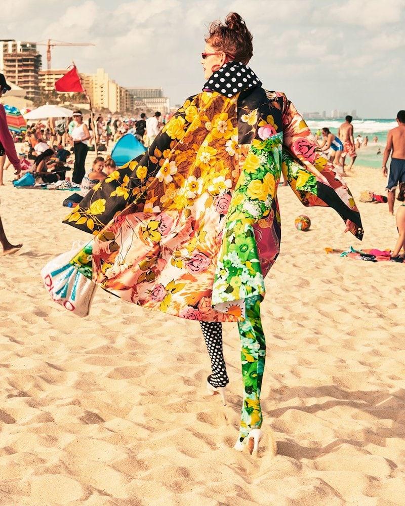 Richard Quinn Floral and Polka Dot-Print Coat