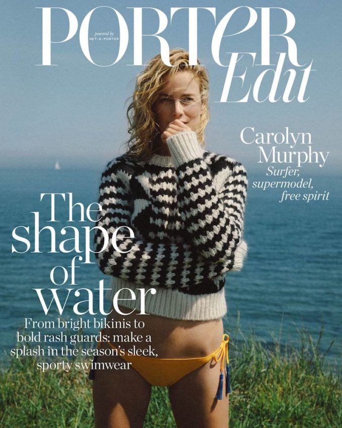 Riding The Waves: Carolyn Murphy for The EDIT