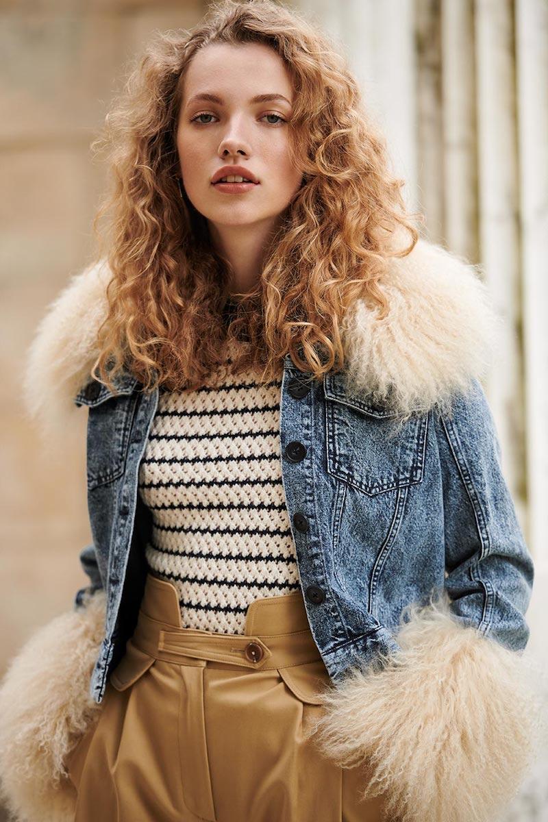 Sea x Jocelyn Denim & Fur Jacket