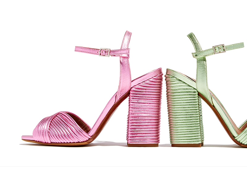 Tabitha Simmons Kali Pleated Leather Sandals