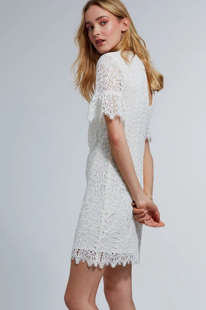 Trina Turk California Dreaming Crochet Shift Dress 1