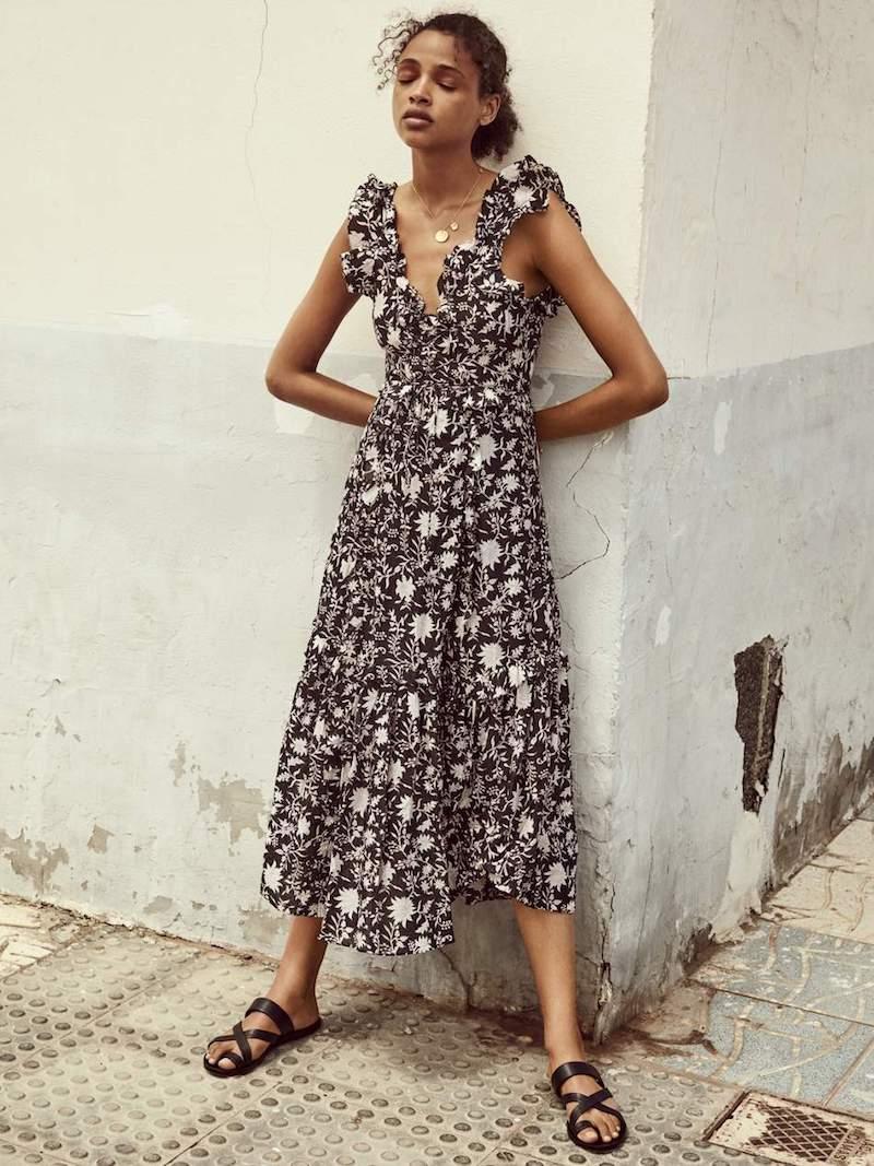 Ulla Johnson Brigitte Floral-Print Cotton and Silk-Blend Organza Midi Dress