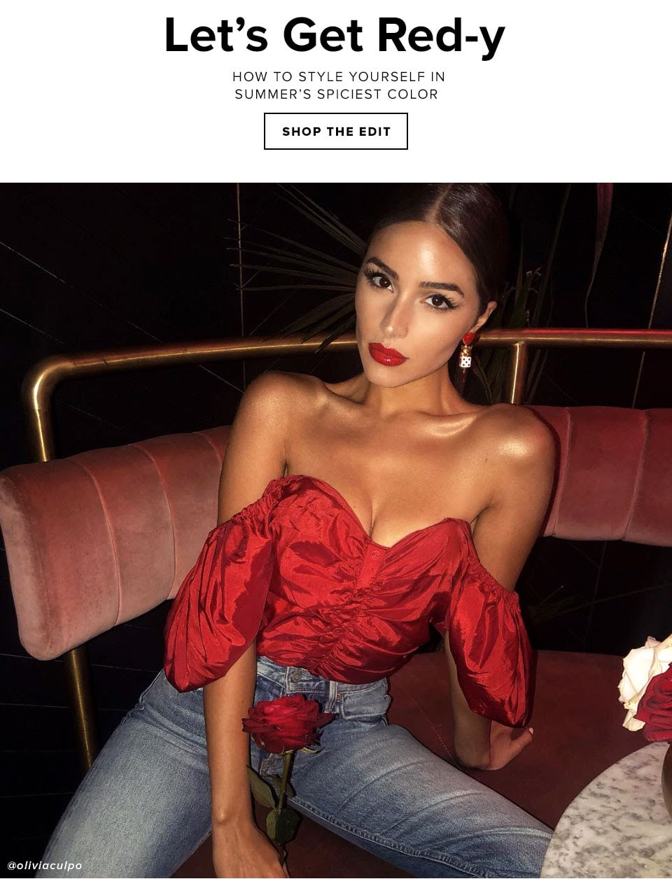 Lady in Red. The hottest hue of the season is taking over and there's no stopping it. Shop the Edit.