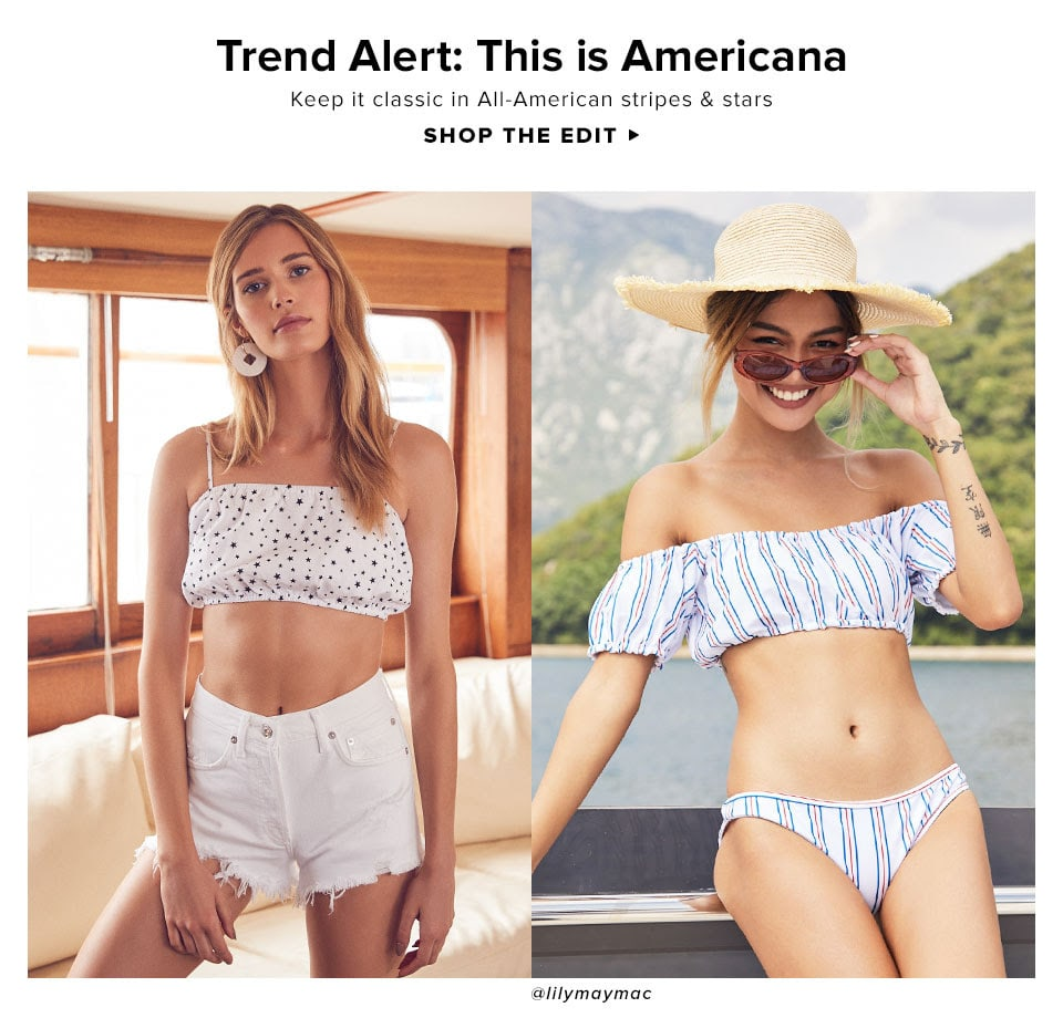Trend Alert: This is Americana. Keep it classic in All-American stripes & stars. Shop The Edit.