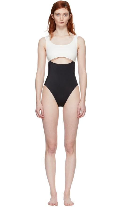 Solid & Striped - Black And Ivory The Natasha Swimsuit