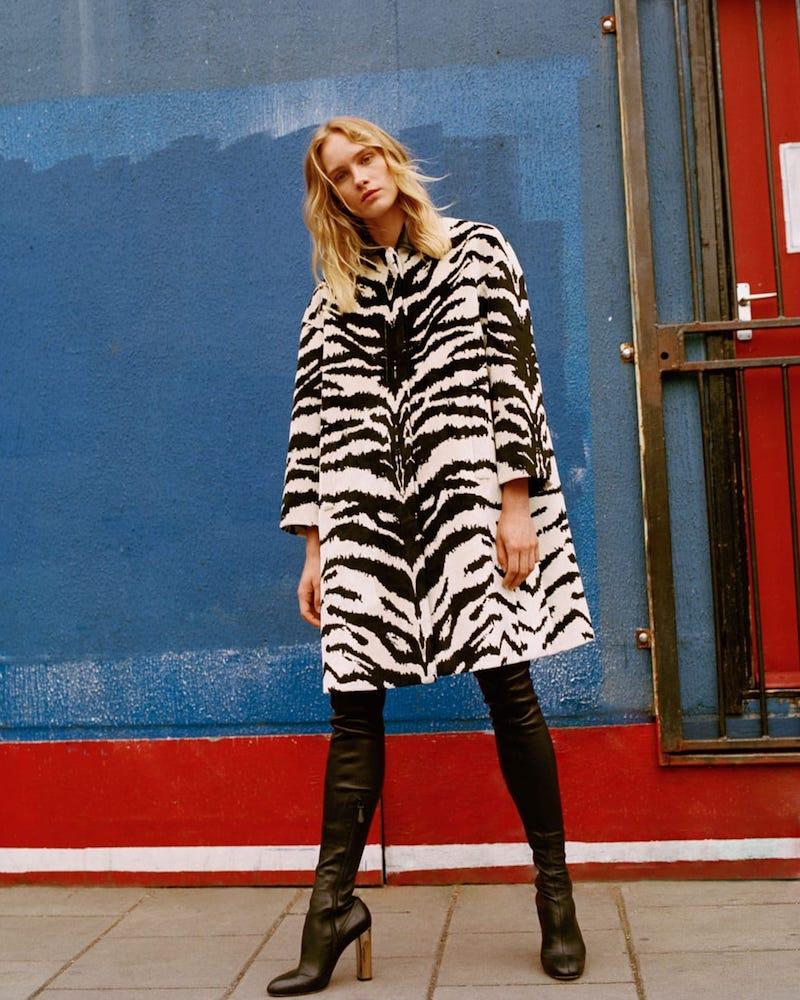 Alexander McQueen Tiger Jacquard Velvet Coat