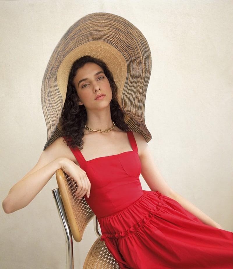 Barneys New York Cotton Poplin Bustier Dress