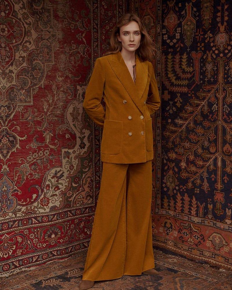 Bella Freud Bianca Double-Breasted Corduroy Jacket