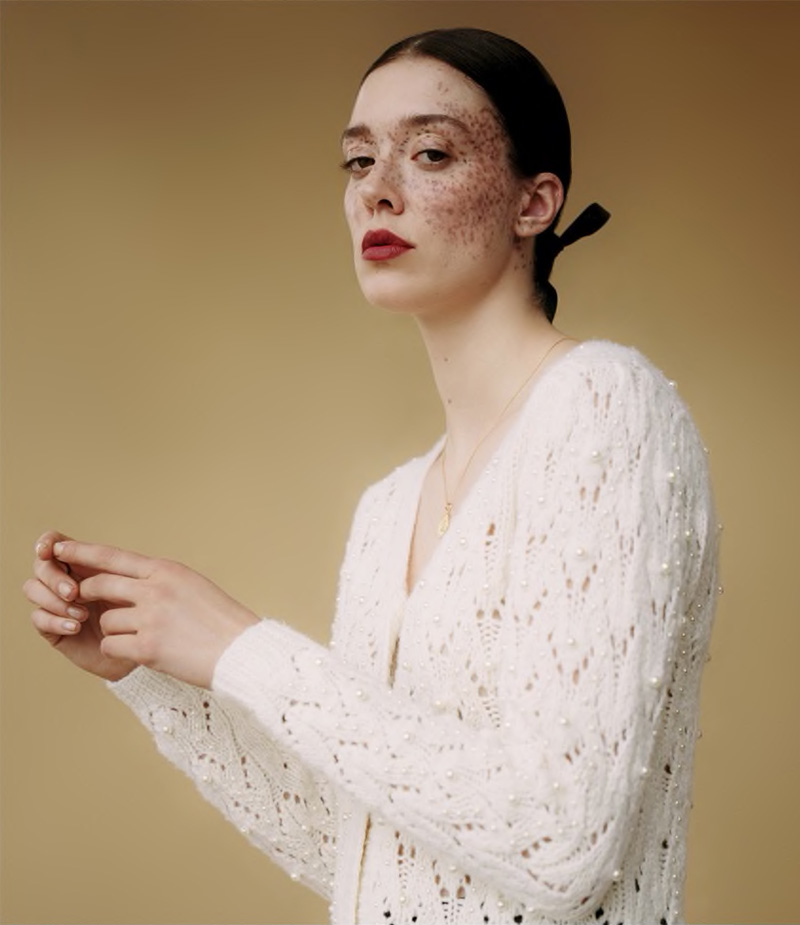 Co Beaded Wool-Cashmere Cardigan
