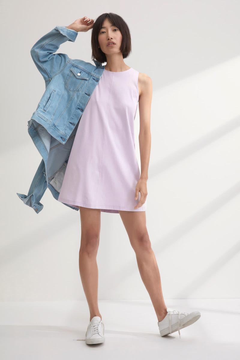 Everlane Luxe Cotton A-Line Tank Dress