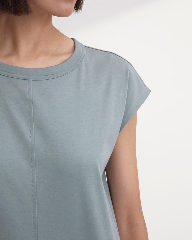 Everlane Luxe Cotton Side-Slit Tee Dress