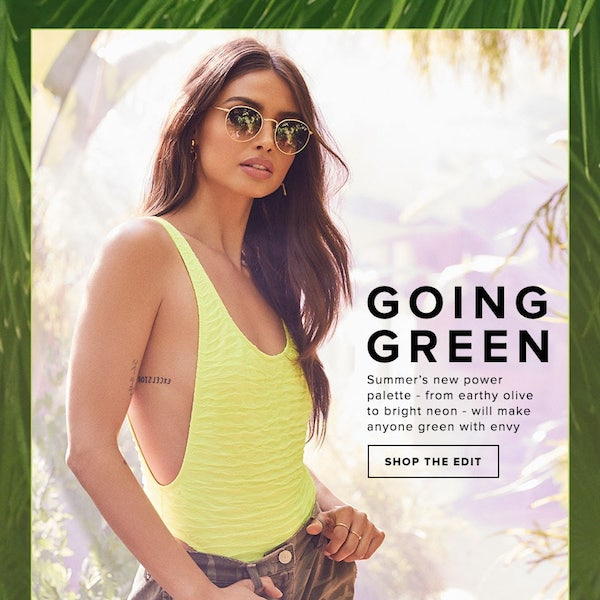 "Going Green: Summer 2018 New ""It"" Color Combo"