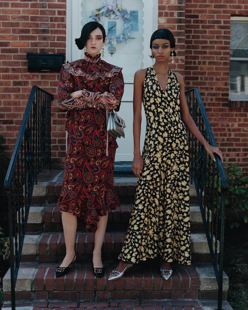 J.W.Anderson Paisley Crepe Layered Dress