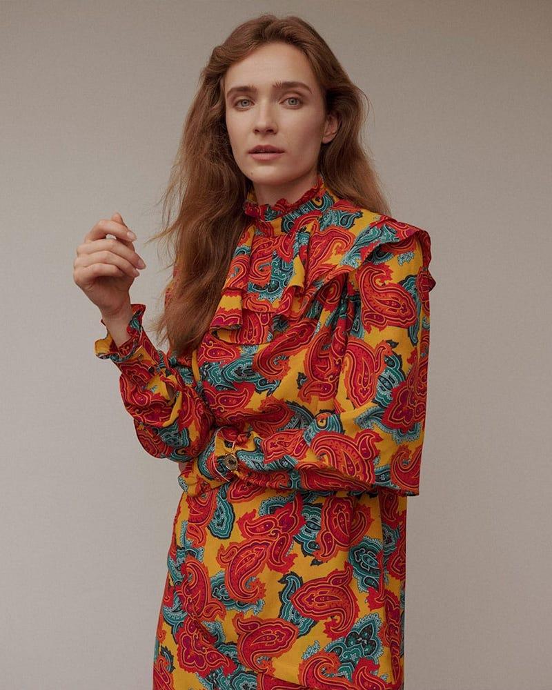 JW Anderson Paisley-Print Silk Midi Dress
