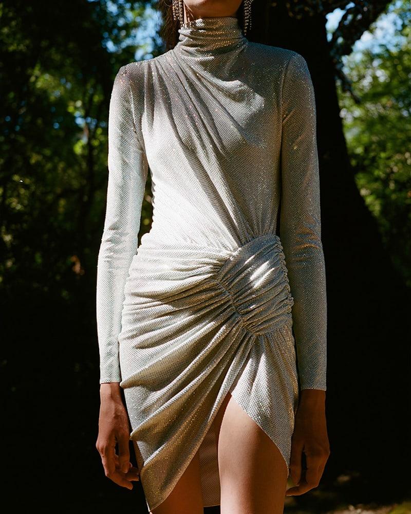 LVR Editions x Alexandre Vauthier Hologram Crystals Mini Dress
