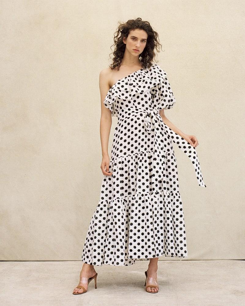 Lisa Marie Fernandez Arden Dot-Print Maxi Dress