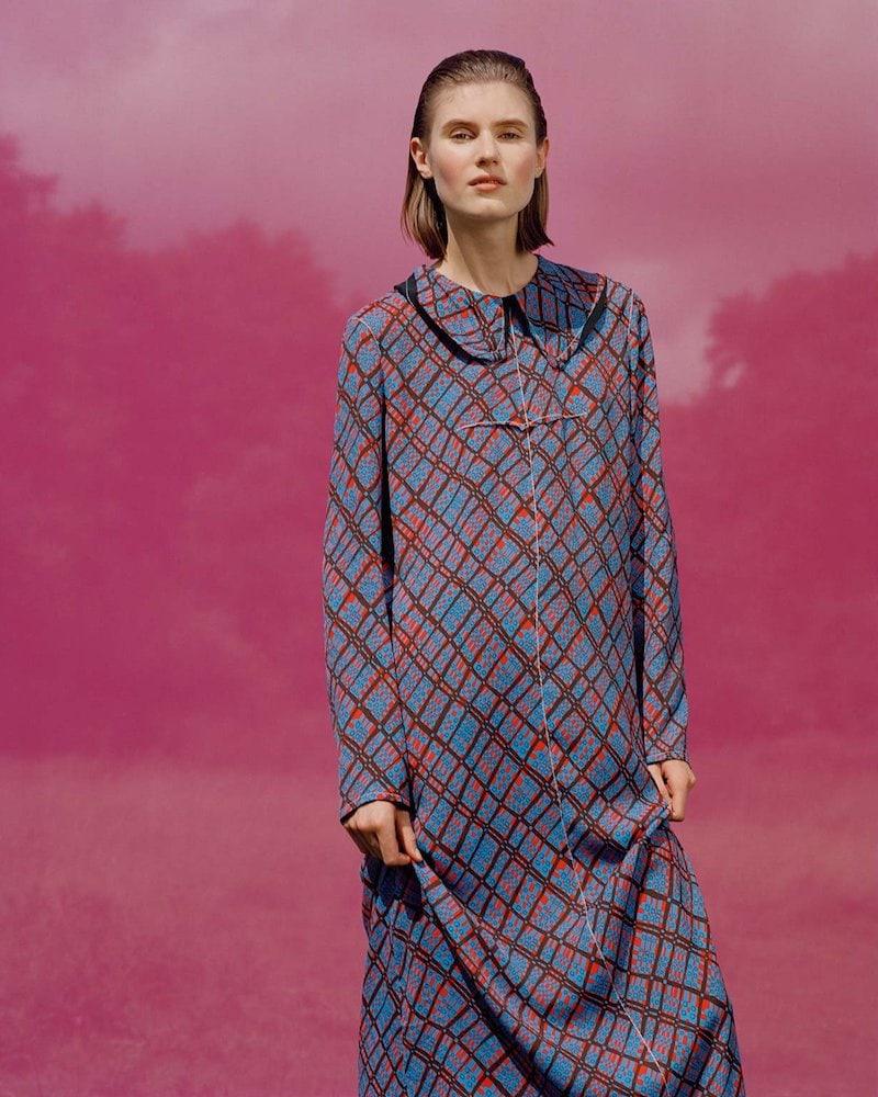 Marni Geometric-Print Maxi Dress