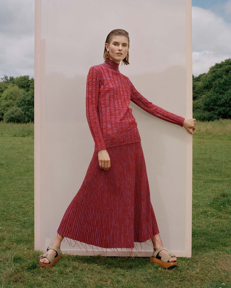 Marni Ribbed-Knit Skirt