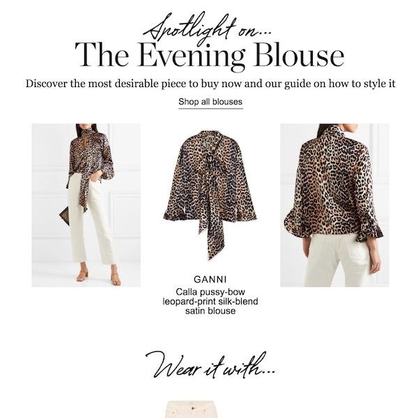 NET-A-PORTER Spotlight On // The Evening Blouse