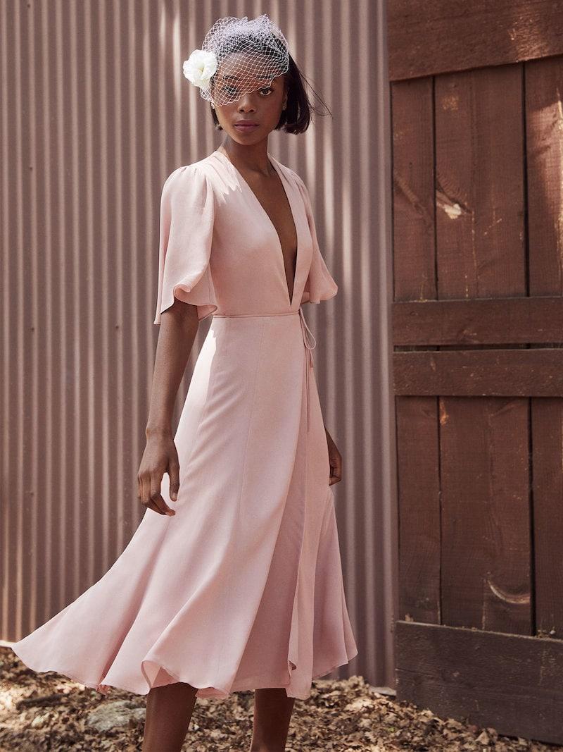 Reformation Rhodes Dress in Blush