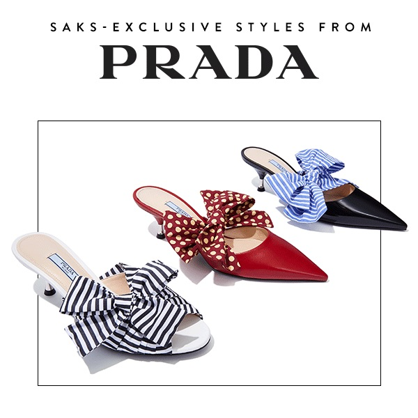 Saks Fifth Avenue Exclusive Prada Shoes Capsule Collection