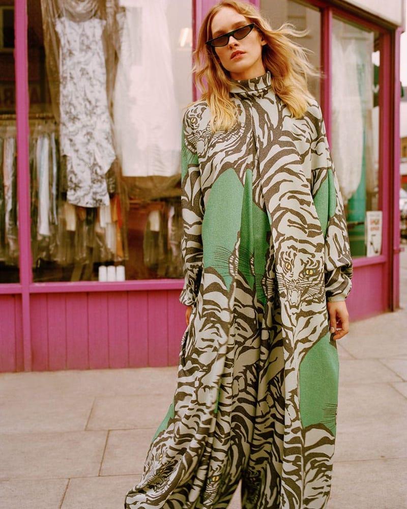 Valentino Tiger-Print Jumpsuit