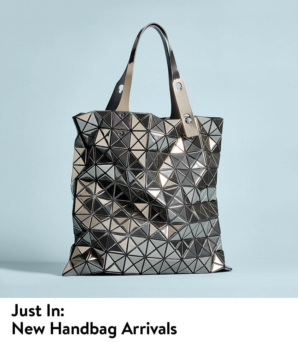 New women's handbags from Bao Bao Issey Miyake and more.