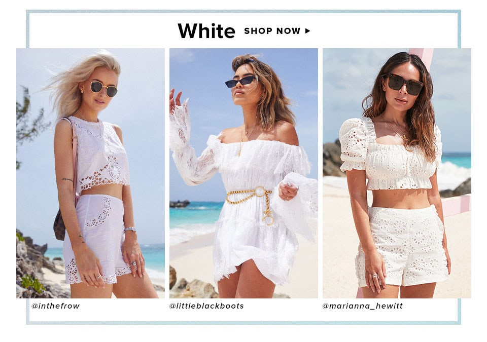 Summer Dress Code. Shop White.