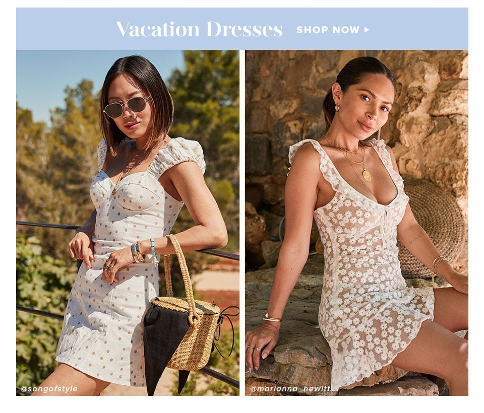 Looks We Love: Summer in Ibiza. Shop Vacation Dresses.