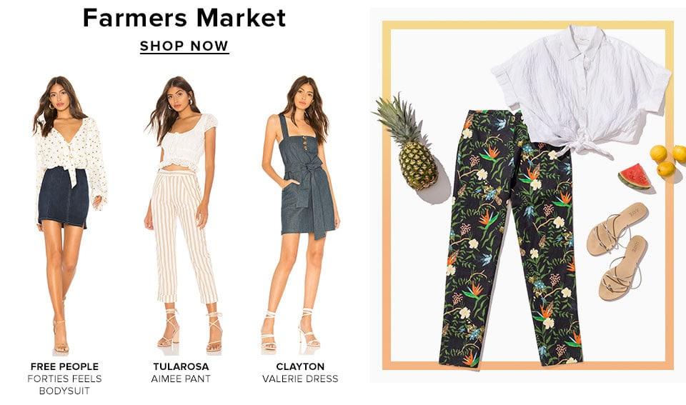 Weekend Ready. Shop Farmers Market.