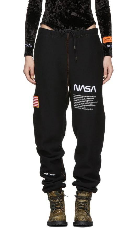 Heron Preston - Ssense Exclusive Black Nasa Edition Lounge Pants