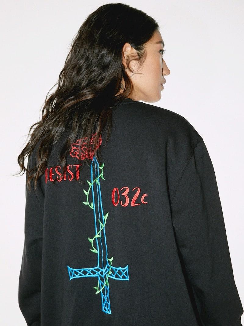 032c Black Resist Sweatshirt