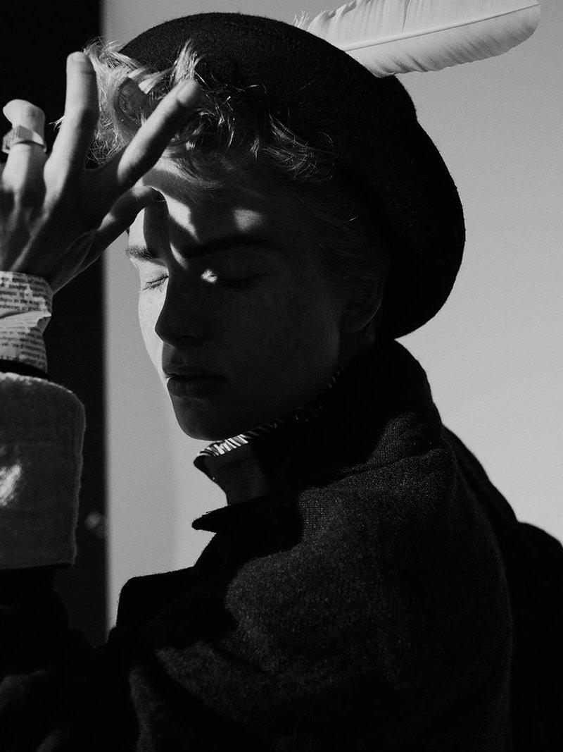 Acne Studios Black Wool-Blend Hat