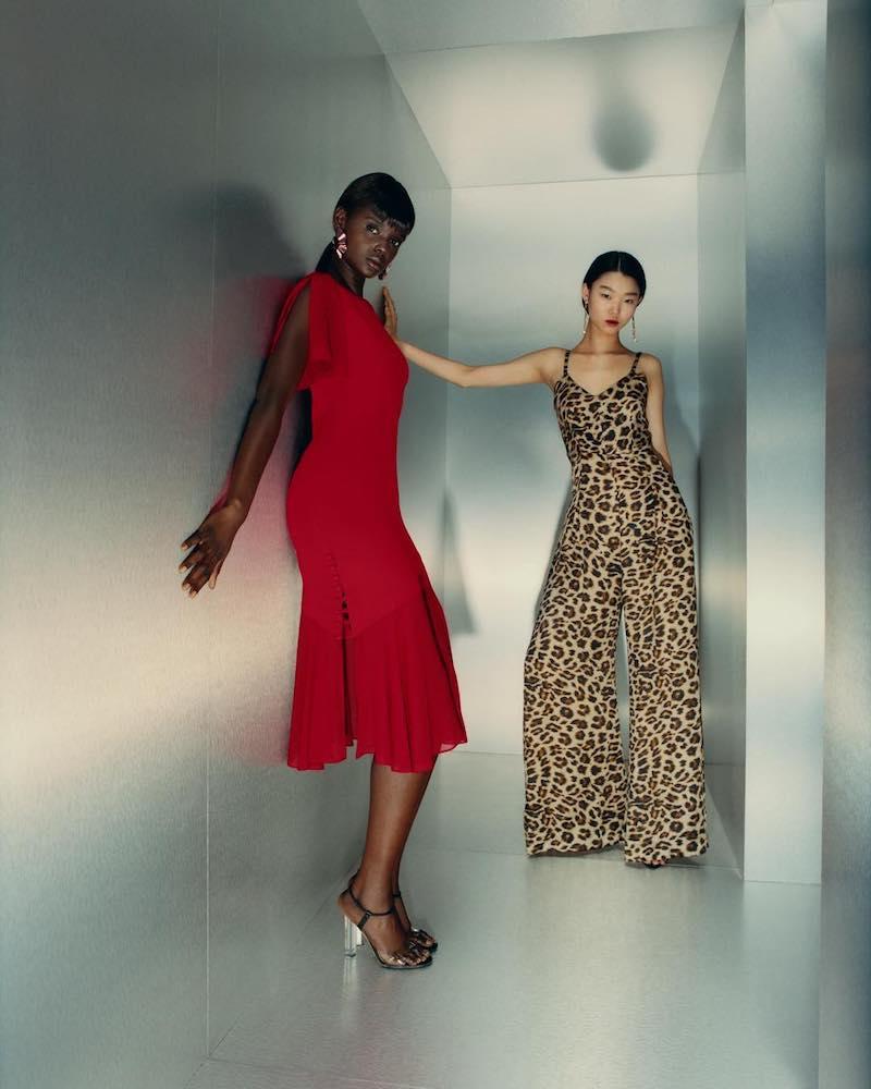 Azeeza Leopard-Print Silk Wide-Leg Jumpsuit
